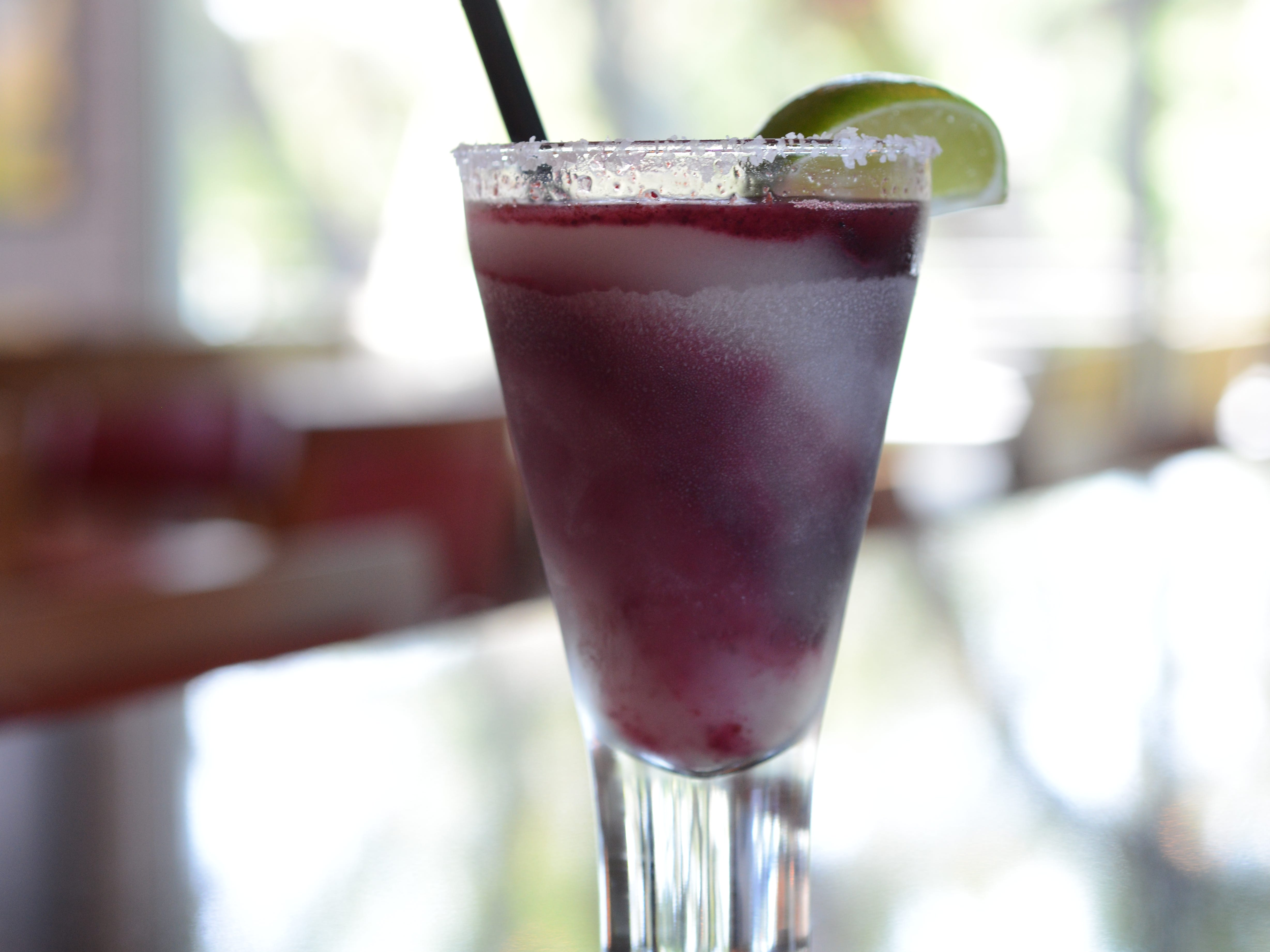 The huckleberry margarita at Roaring Fork.