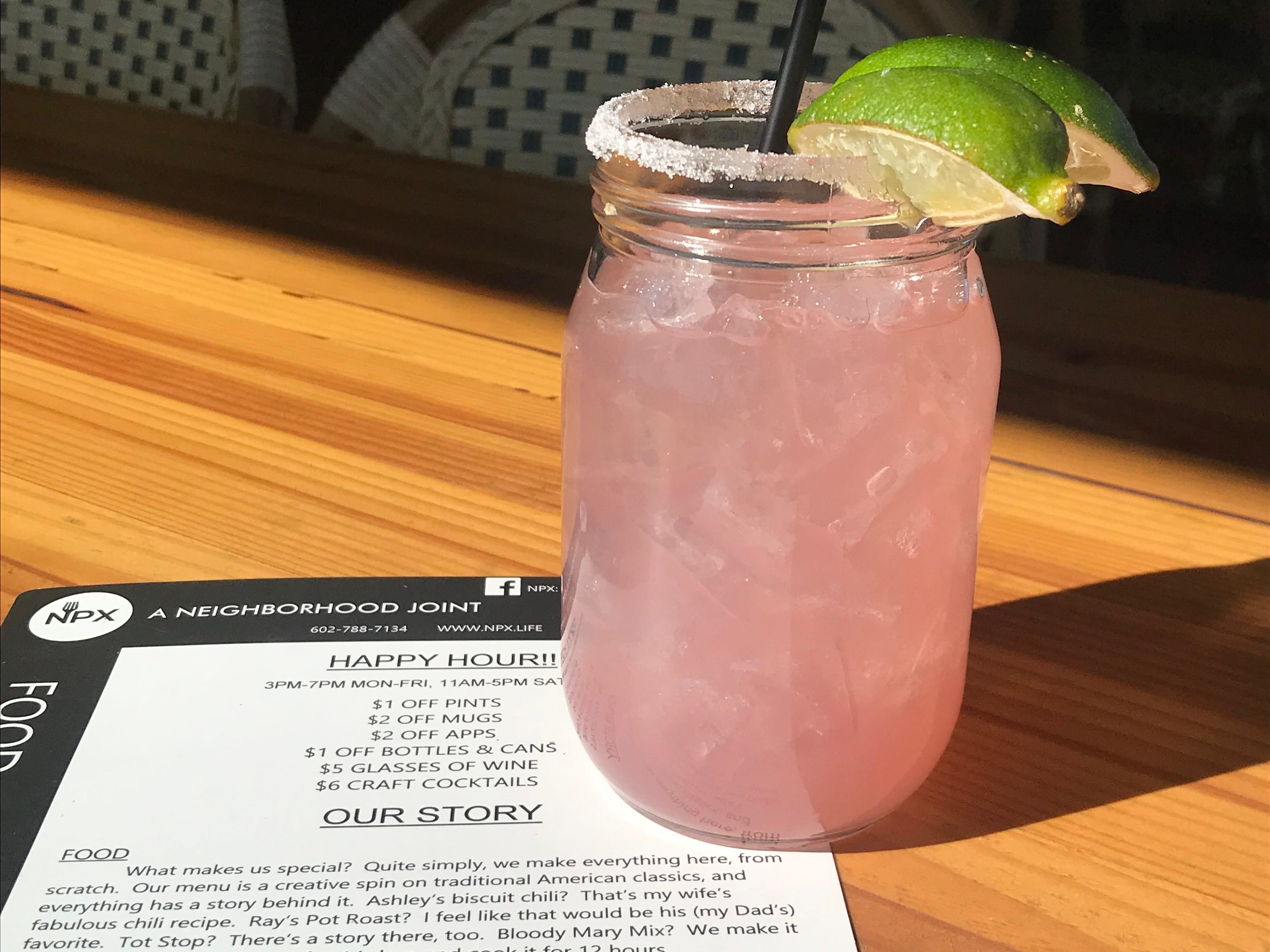 NPX — A Neighborhood Joint's prickly pear margarita.