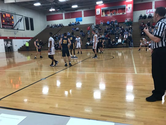 The Elco boys basketball team fell to Elizabethtown 64-48 in a Lancaster-Lebanon League play-in game on Friday night at Warwick.