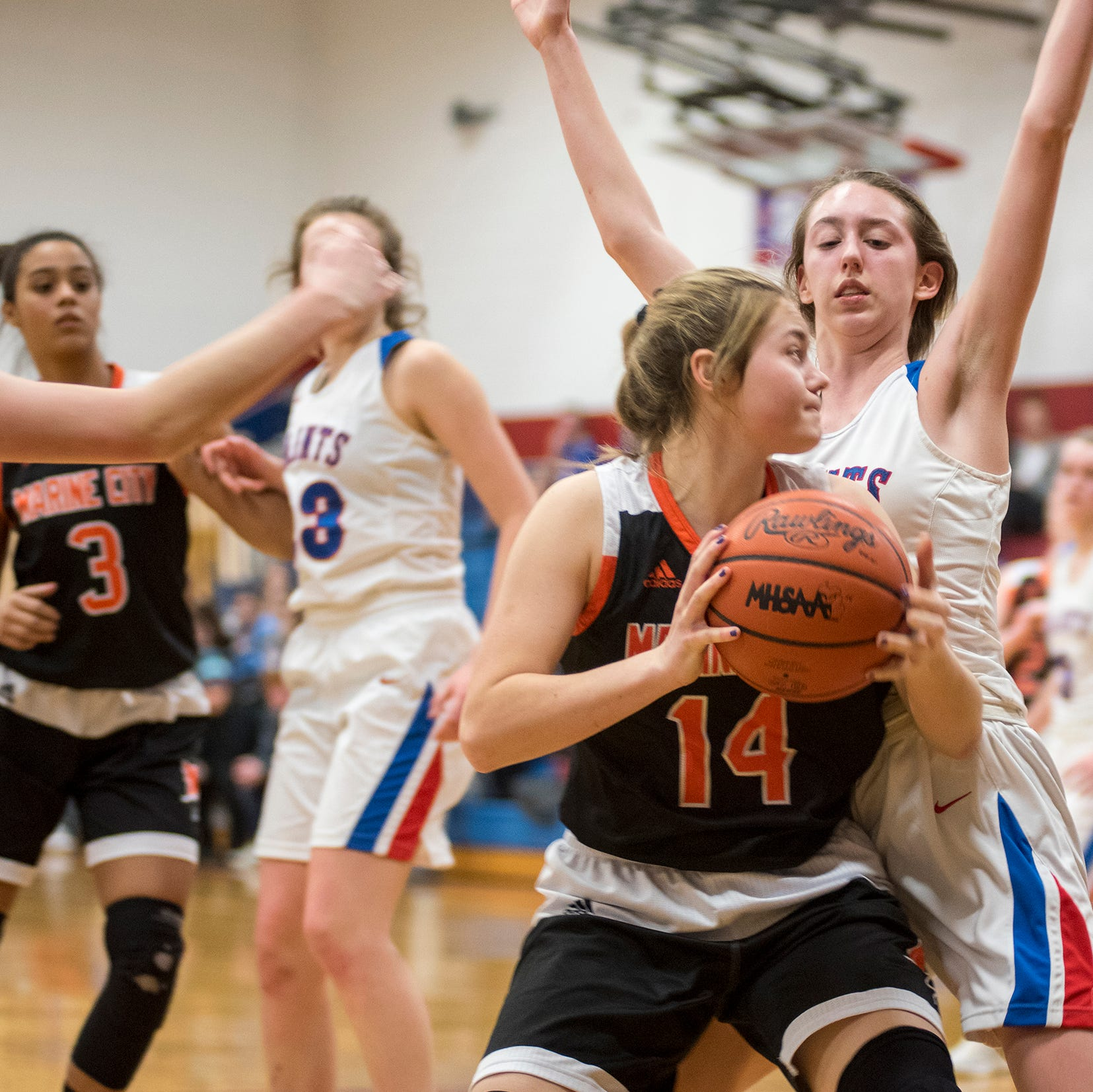 Blue Water Area high school girls basketball scores for district semifinals