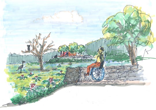 A rendering of a potential nature viewing area at the Lake Walton property that Dutchess County hopes to purchase from Scenic Hudson for $1.5 million.