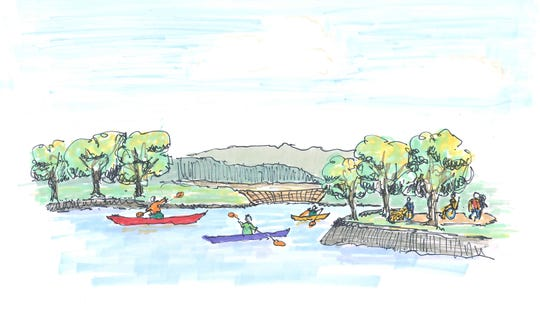 A rendering of a potential use for the Lake Walton property that Dutchess County hopes to purchase from Scenic Hudson for $1.5 million.