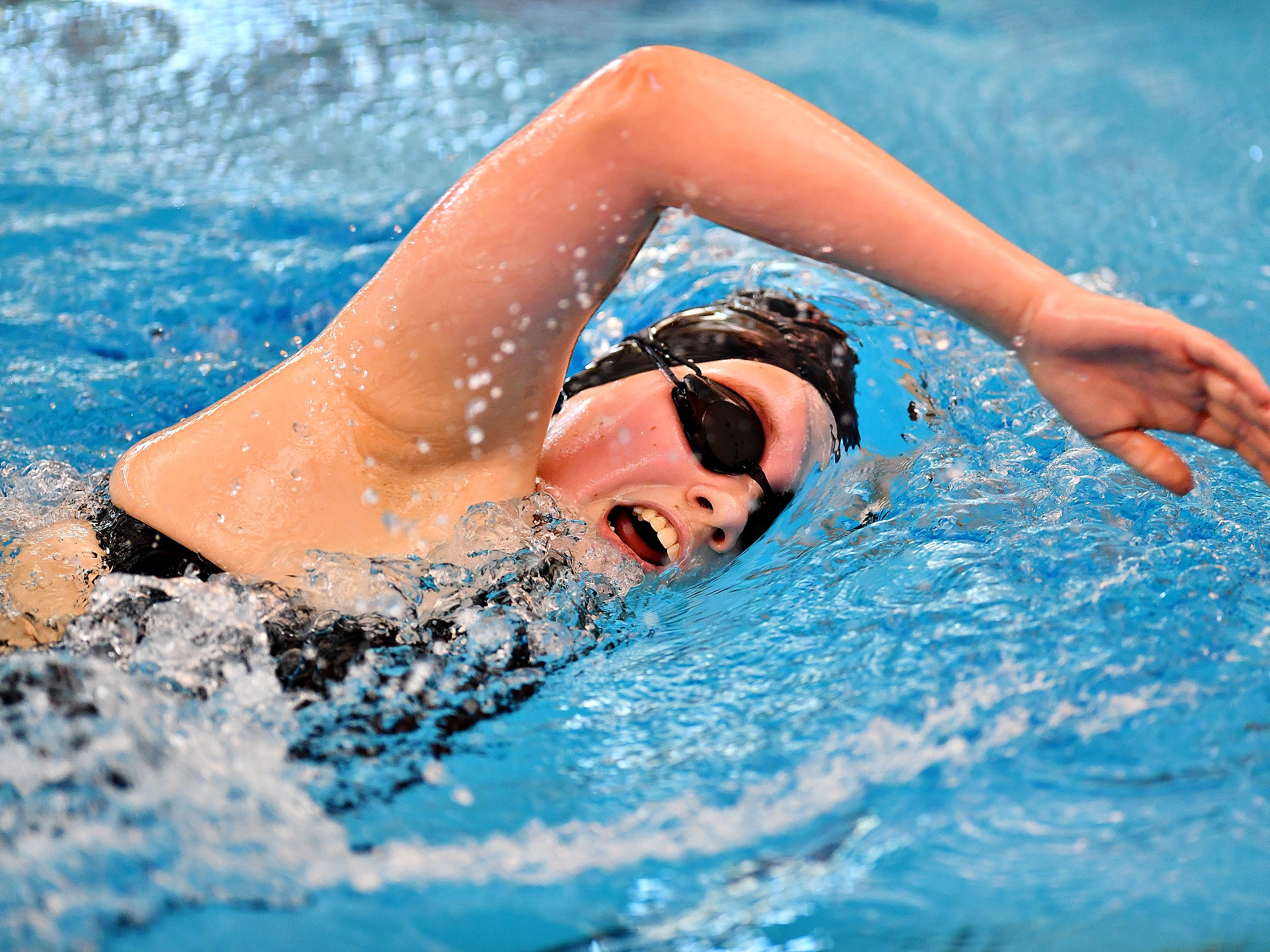 York-Adams League Swimming Championship at Central York High School in Springettsbury Township, Saturday, Feb. 9, 2019. Dawn J. Sagert photo