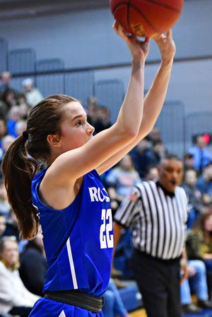 Spring Grove's Ella Kale, seen here in a file photo, scored 25 points Friday night in a 42-41 victory over Dallastown.