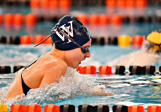 West York's Meaghan Harnish is the top seed in the Class 2-A 200 individual medley at the District 3 Swimming Championships.
