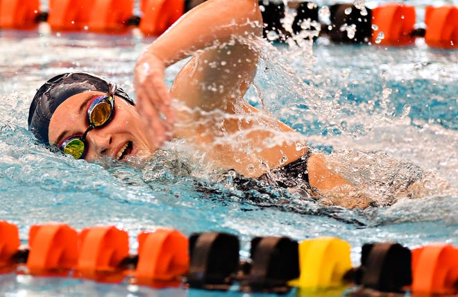West York's Meghan French is the No. 2 seed in the Class 2-A 500-yard freestyle at the PIAA Swimming and Diving Championships. DISPATCH FILE PHOTO