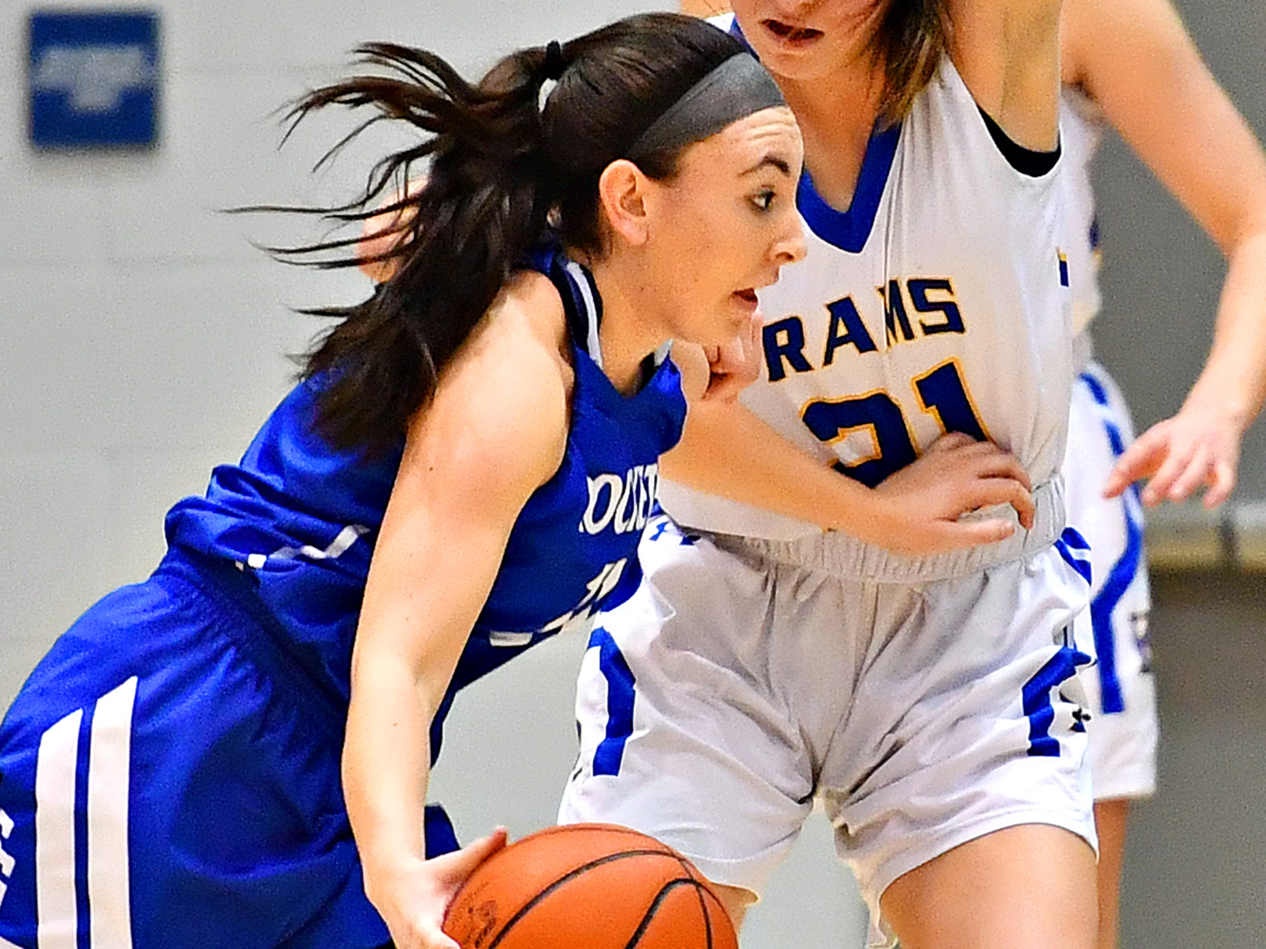 Spring Grove vs Kennard-Dale during York-Adams League girls' basketball quarterfinal action at Dallastown Area High School in York Township, Friday, Feb. 8, 2019. Spring Grove would win the game 47-38. Dawn J. Sagert photo