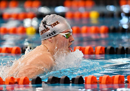 Central York's Lucas Tate was a big reason that the Panthers were the top boys' swimming team in the York-Adams League this season.