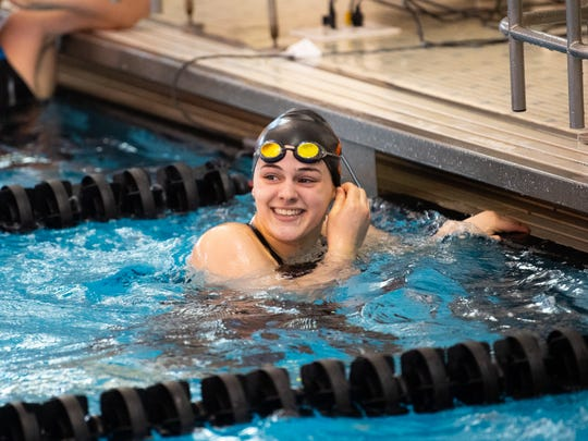 York Suburban sophomore Sophia Guyer swam 58.50, notching sixth-place hardware in the 100 backstroke at the 2019 PIAA championships.