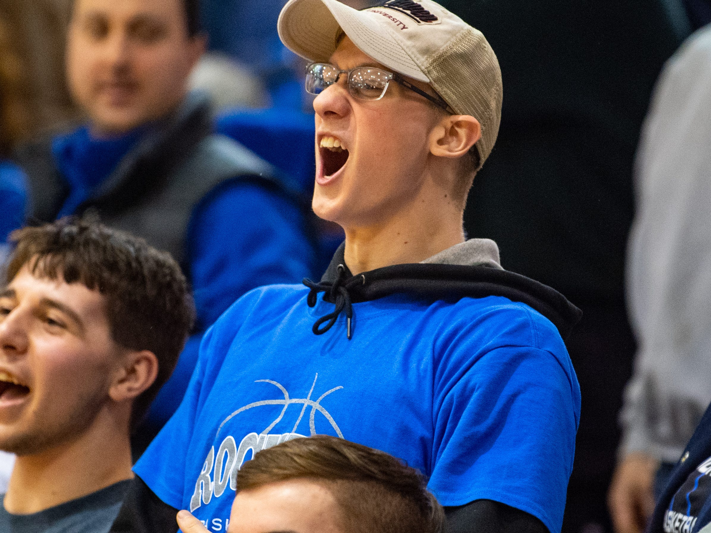 Spring Grove's student section cheers after a hard fought win over Kennard-Dale, February 8, 2019 at Dallastown Area High School. The Rockets defeated the Rams 47 to 38.
