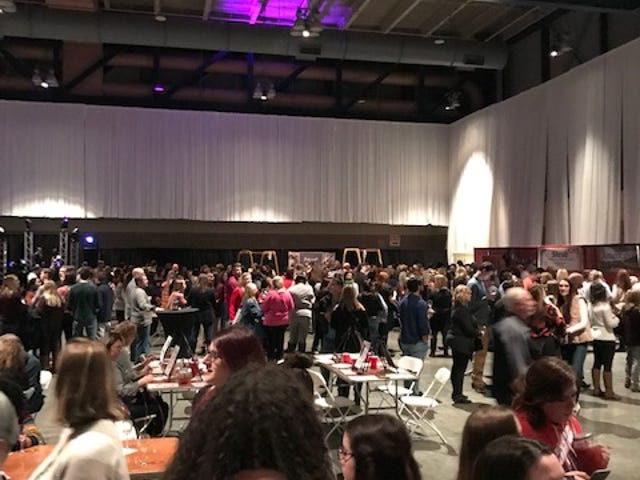 Some patrons are complaining of long lines and little wine at Friday's Rochester Wine Festival.