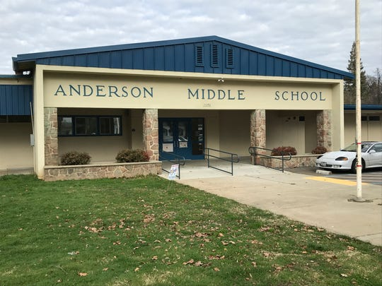 A yard duty aide at Anderson Middle School wore one of President Trump's Make America Great Again hats, which upset some students and parents.