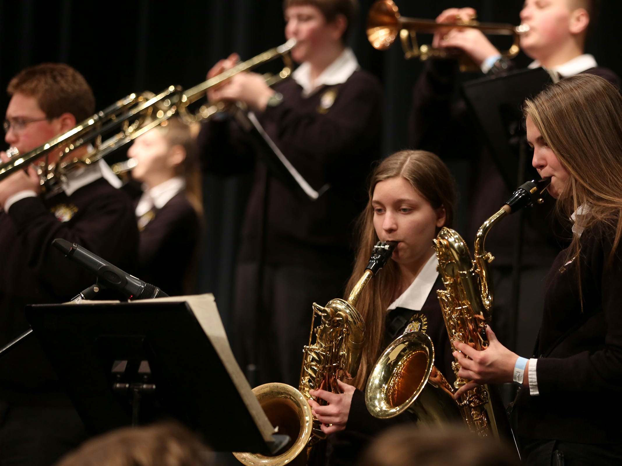 North Albany High School's jazz band performs at the annual West Salem Jazz Festival at West Salem High School on Saturday, Feb. 9, 2019.