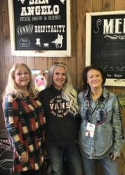 From left: Jo Ann Carr, Courtney Carr Reeves and Joyce Baker are part of the crew tasked with preparing hot meals from scratch to nourish competitors at the San Angelo Rodeo.