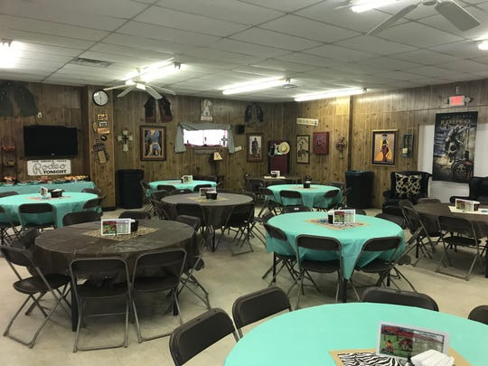 "The hospitality room at the San Angelo Rodeo is decorated in a ""homey"" style designed to put competitors at ease, and provide a comfortable space for visiting while enjoying a hot meal, made from scratch."