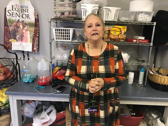 San Angelo's Jo Ann Carr leads the hospitality crew, which serves up about 1,500 meals to competitors at the rodeo each year.