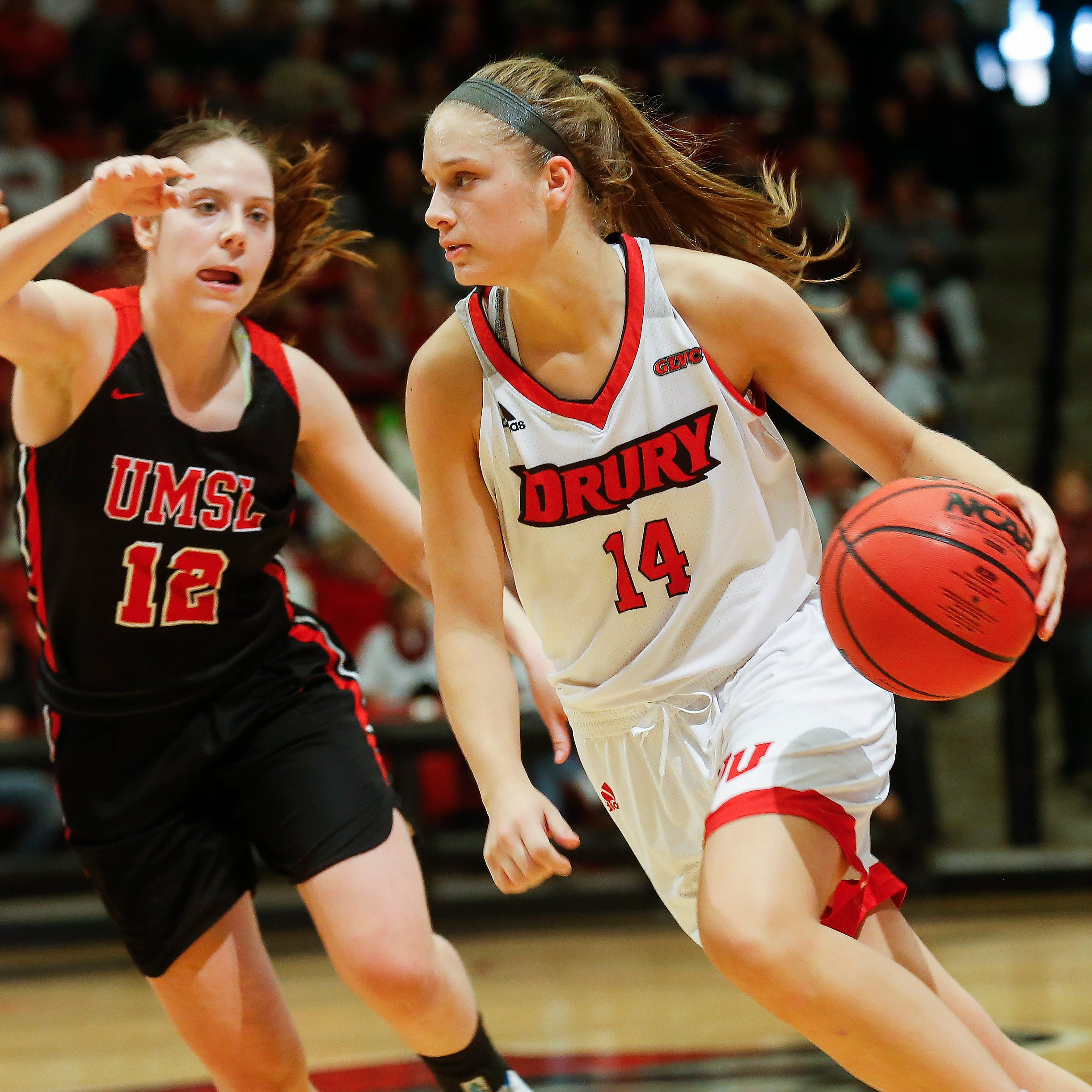 A Drury player got pushed over twice by an opponent but 2 Lady Panthers may get suspended. Why?