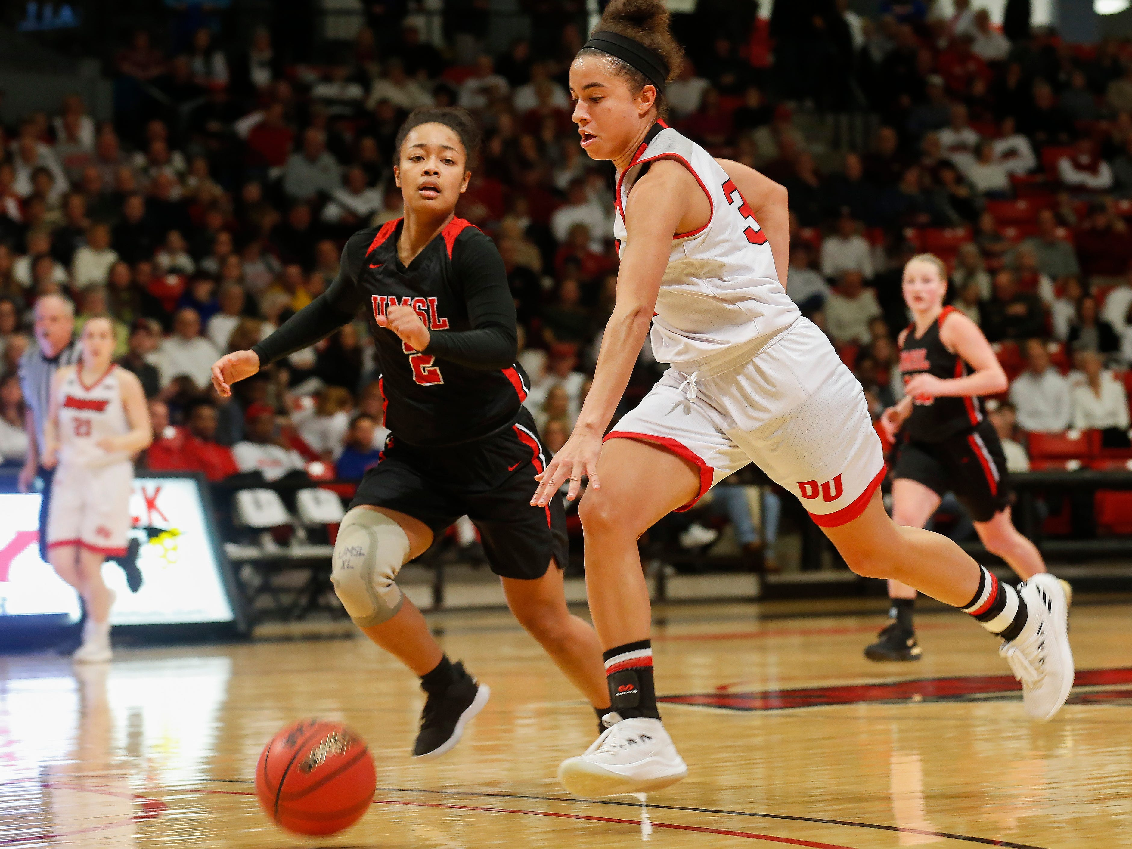 The Lady Panthers defeated the University of Missouri St. Louis Tritons 77-44 during the Overflow the O game at the O'Reilly Family Event Center on Saturday, Feb. 9, 2019.