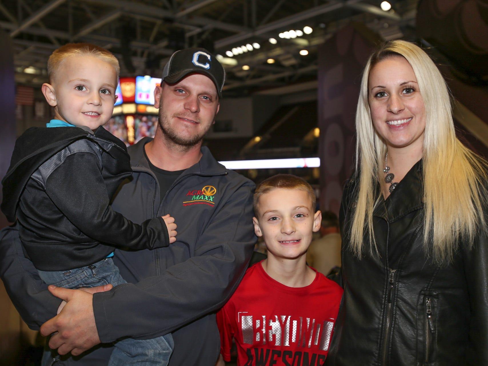 Shane, Jessica, Clayten and Jayden Madsen