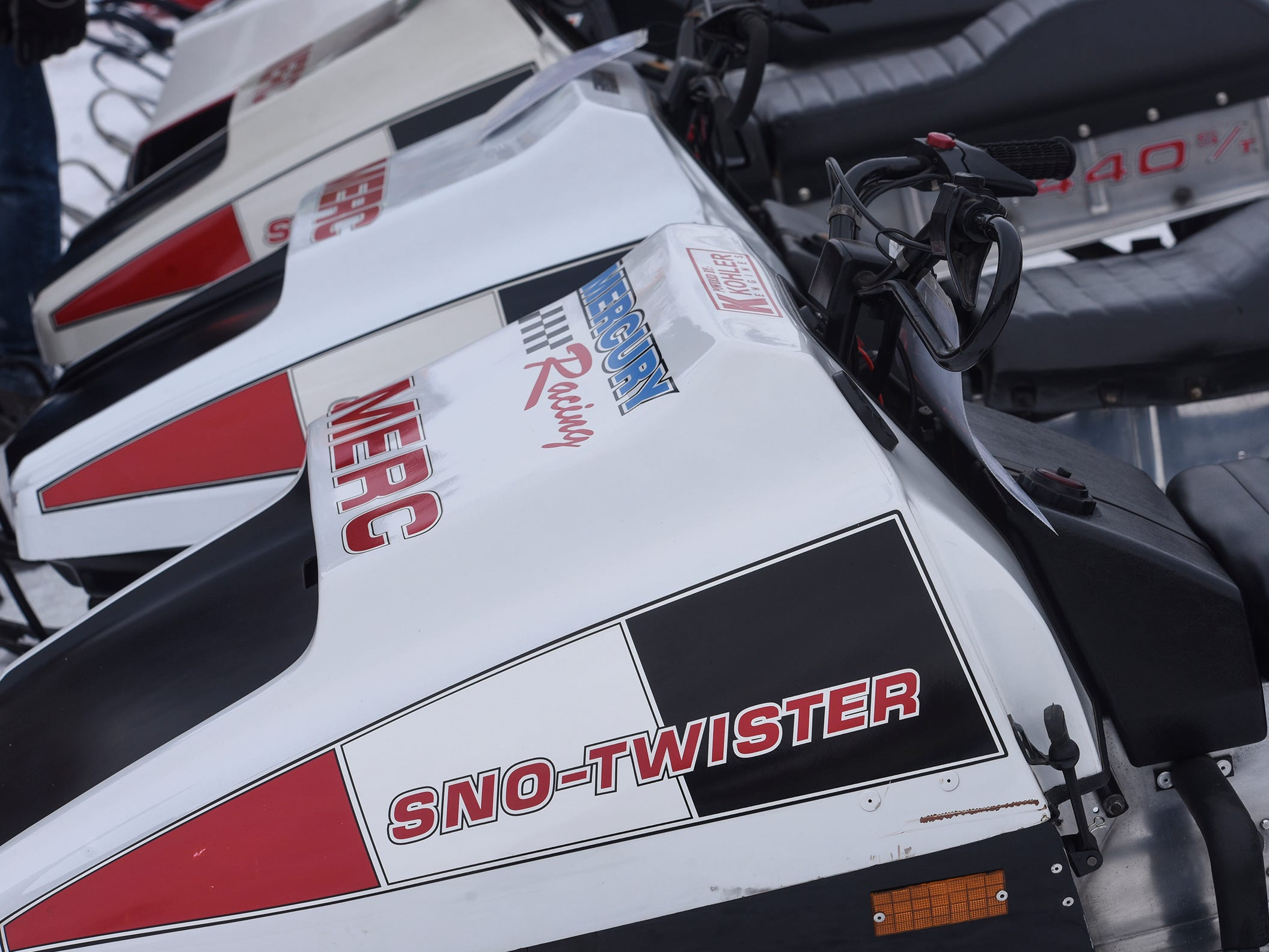 A collection of rare Mercury snowmobiles joins other vintage snowmobiles Saturday, Feb. 9, during the St. Stephen River Runners snowmobile club's 50th Anniversary Celebration in St. Stephen.