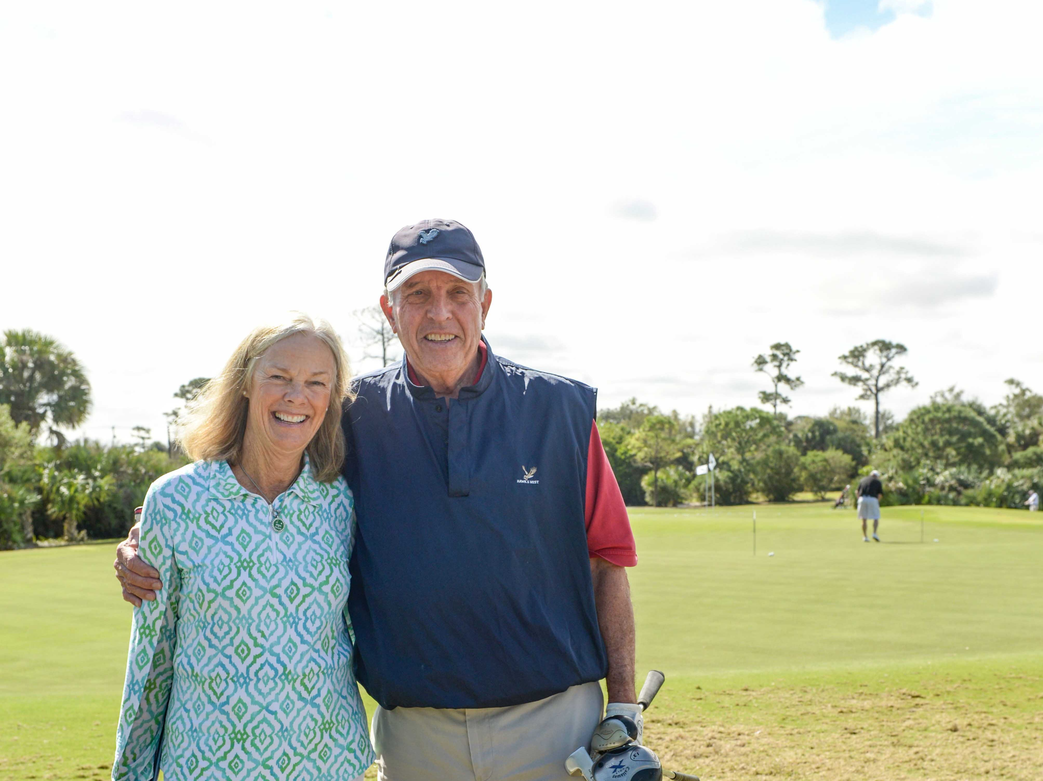 Mary Ellen McCarthy and Bob DeWaters at Hawk's Nest Golf Club for the Big Brothers Big Sisters Golf Tournament on Feb. 4.