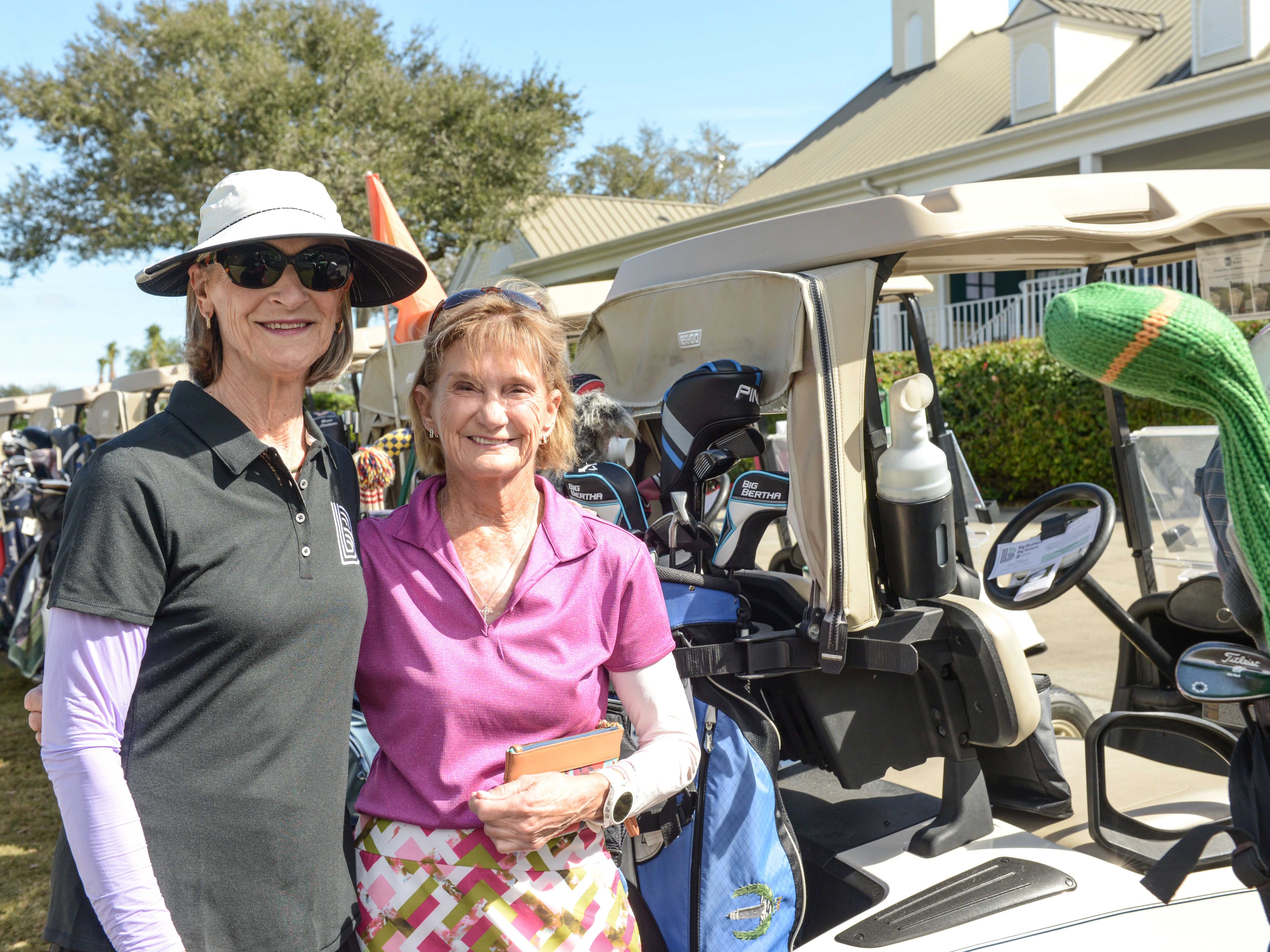 Volunteer and Event Committee Member Chris Smith with Nancy Sullivan at Hawk's Nest Golf Club for the Big Brothers Big Sisters Golf Tournament on Feb. 4.