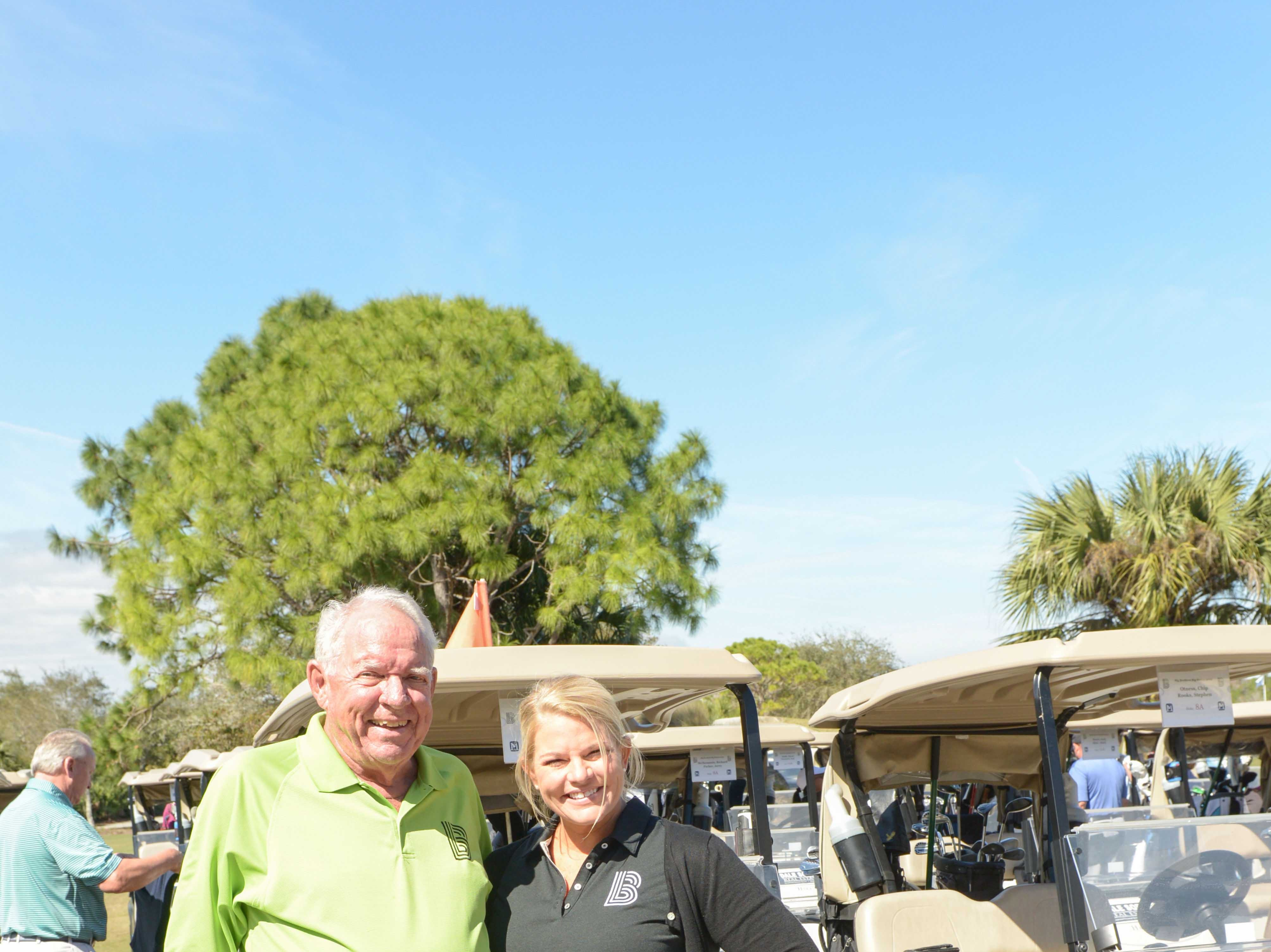 Board Chair-Elect and Sponsor Brad Lorimier and CEO Stacey Watson-Mesley at Hawk's Nest Golf Club for the Big Brothers Big Sisters Golf Tournament on Feb. 4.