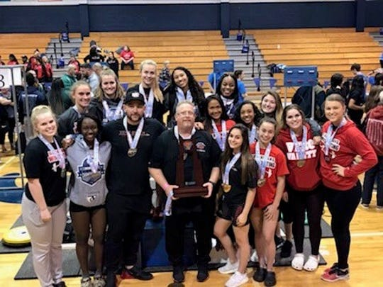 The Vero Beach High School girls weightlifting team placed second in Class 2A in the state finals Friday, Feb. 8, 2019.