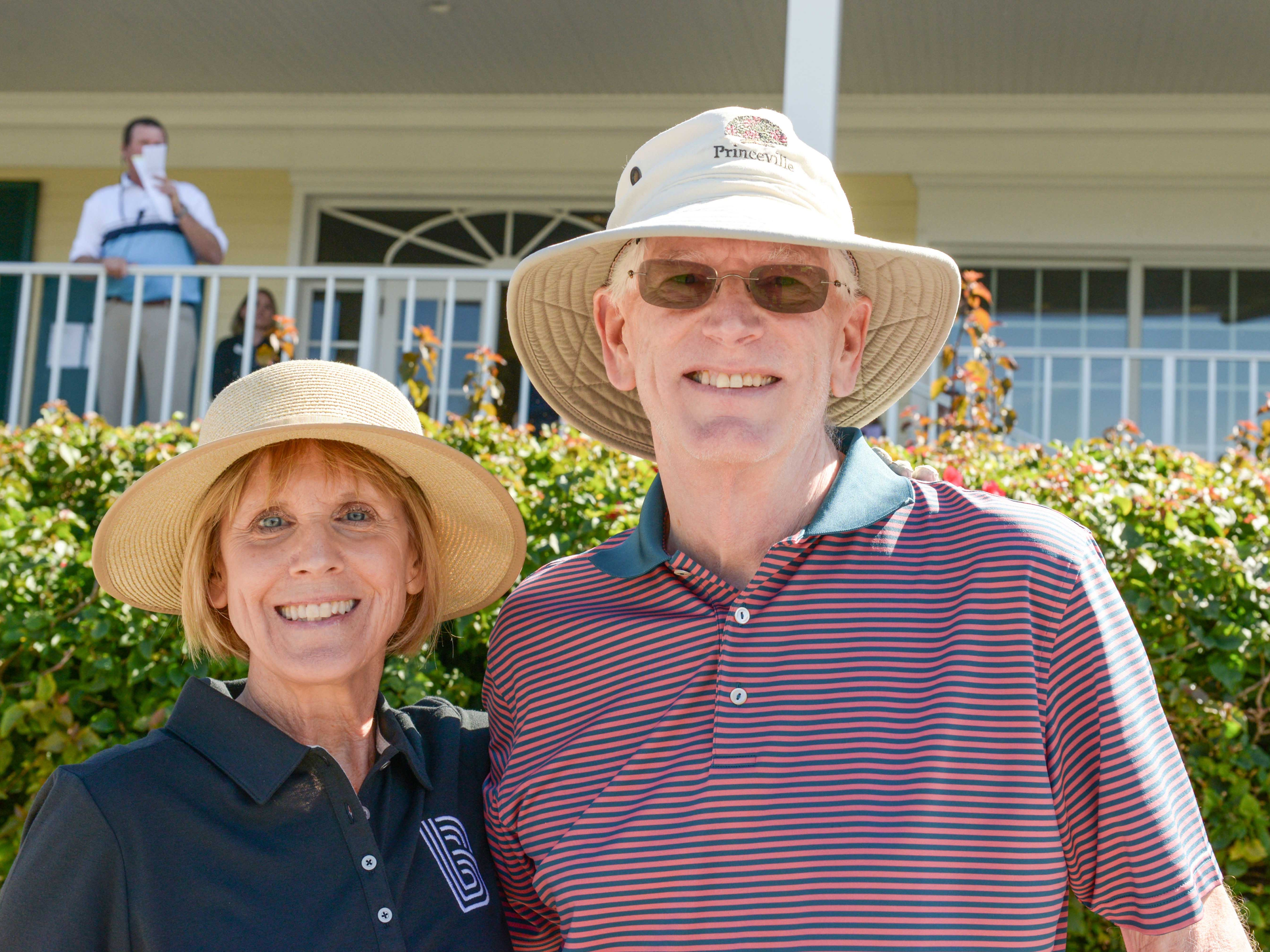 Board Member Bonnie Wilson and Dave Wilson at Hawk's Nest Golf Club for the Big Brothers Big Sisters Golf Tournament on Feb. 4.