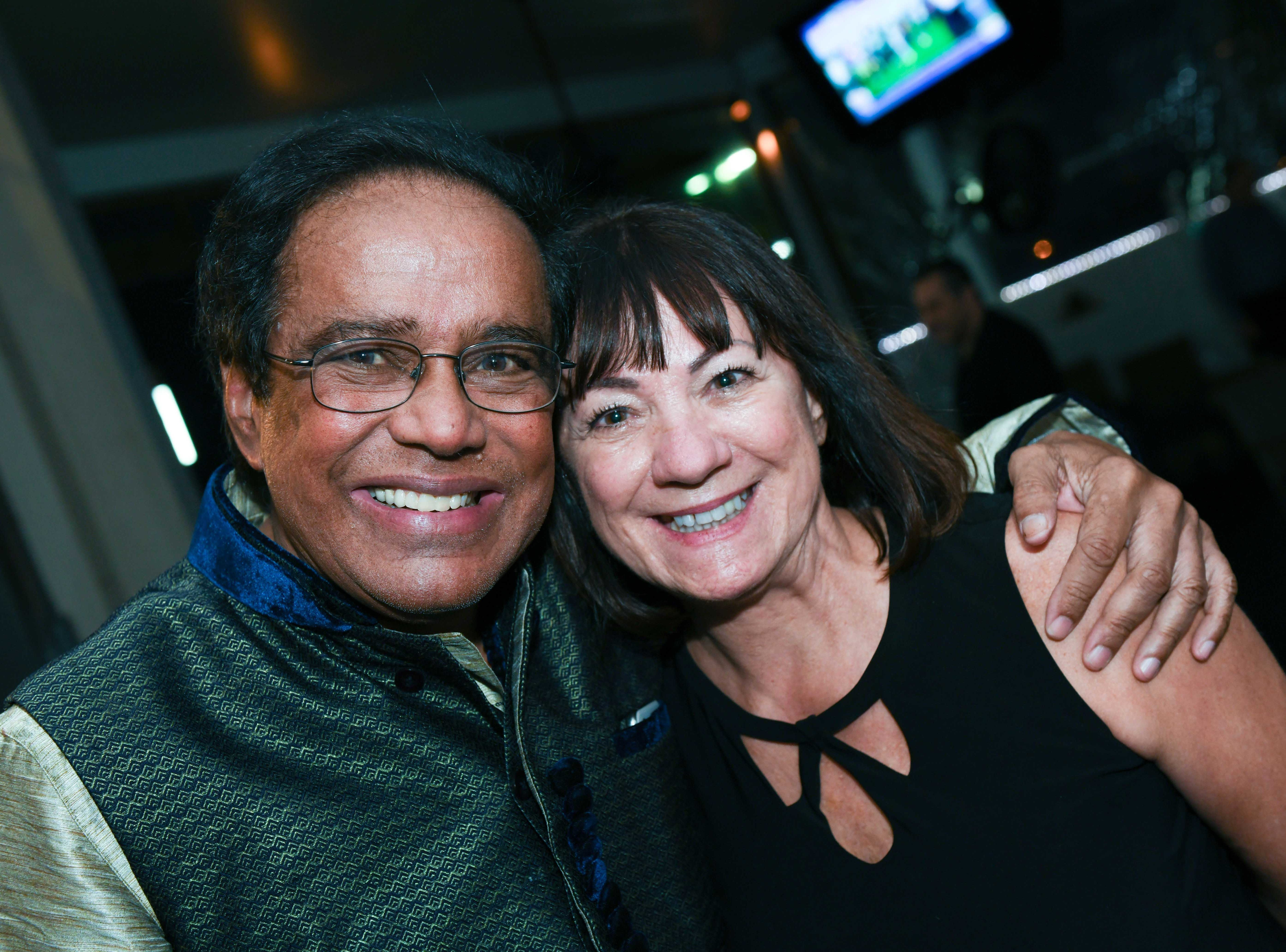 "Dr. Shamsher Singh and Jeannette Weiss at Port St. Lucie Sunset Rotary Club's ""Beast and Bourbon Dinner"" on Jan. 24."