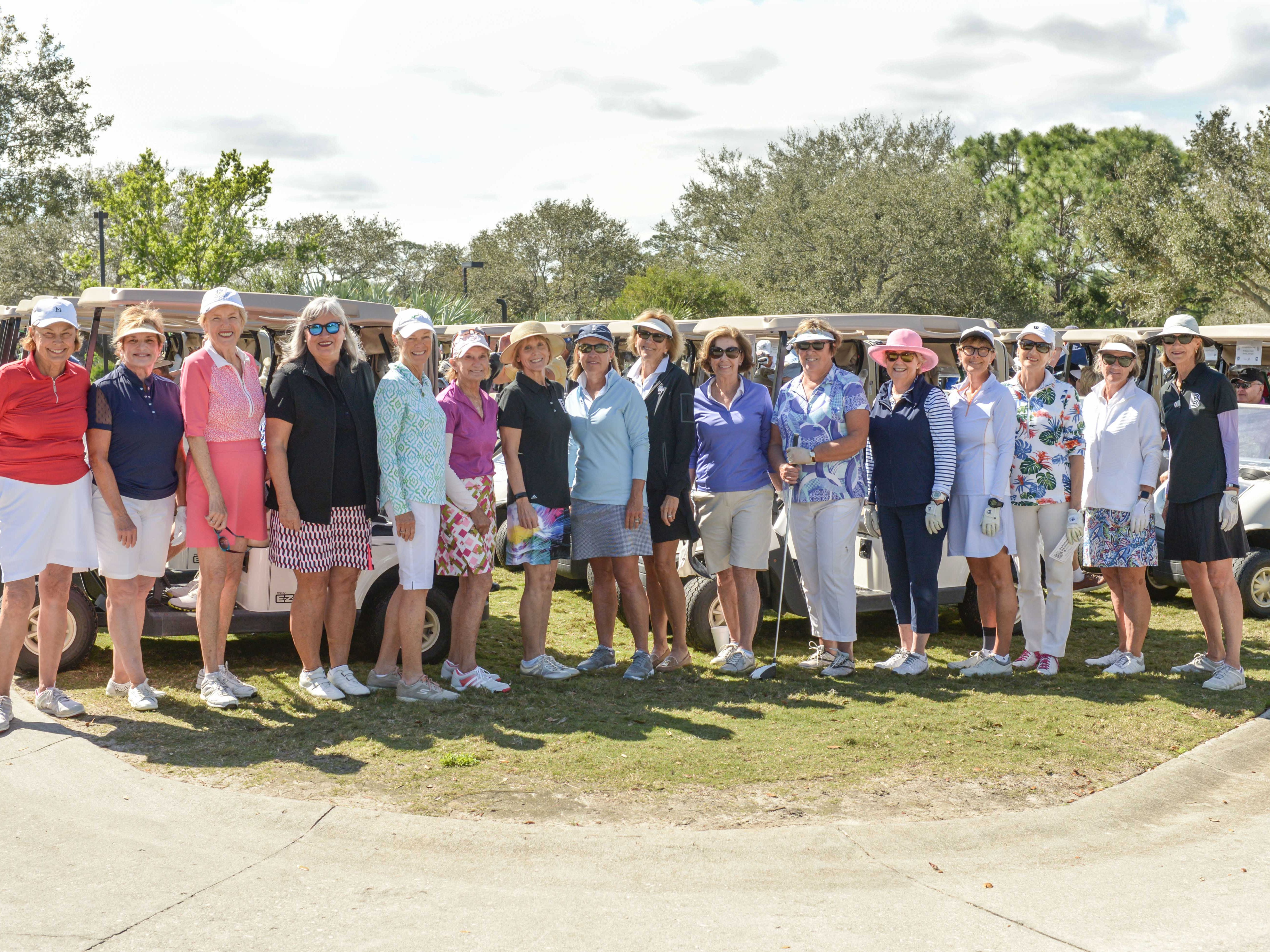 Big Brothers Big Sisters of St. Lucie, Indian River & Okeechobee Counties' eighth annual golf tournament drew 74 women and men to the links at The Moorings at Hawk's Nest Golf Club on Feb. 4.