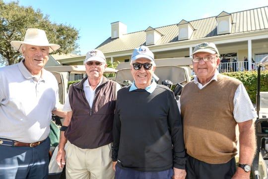 Richard Duch, Marty Brophy, John Gammino and Ray Oneidas at Hawk's Nest Golf Club for the Big Brothers Big Sisters Golf Tournament on Feb. 4.
