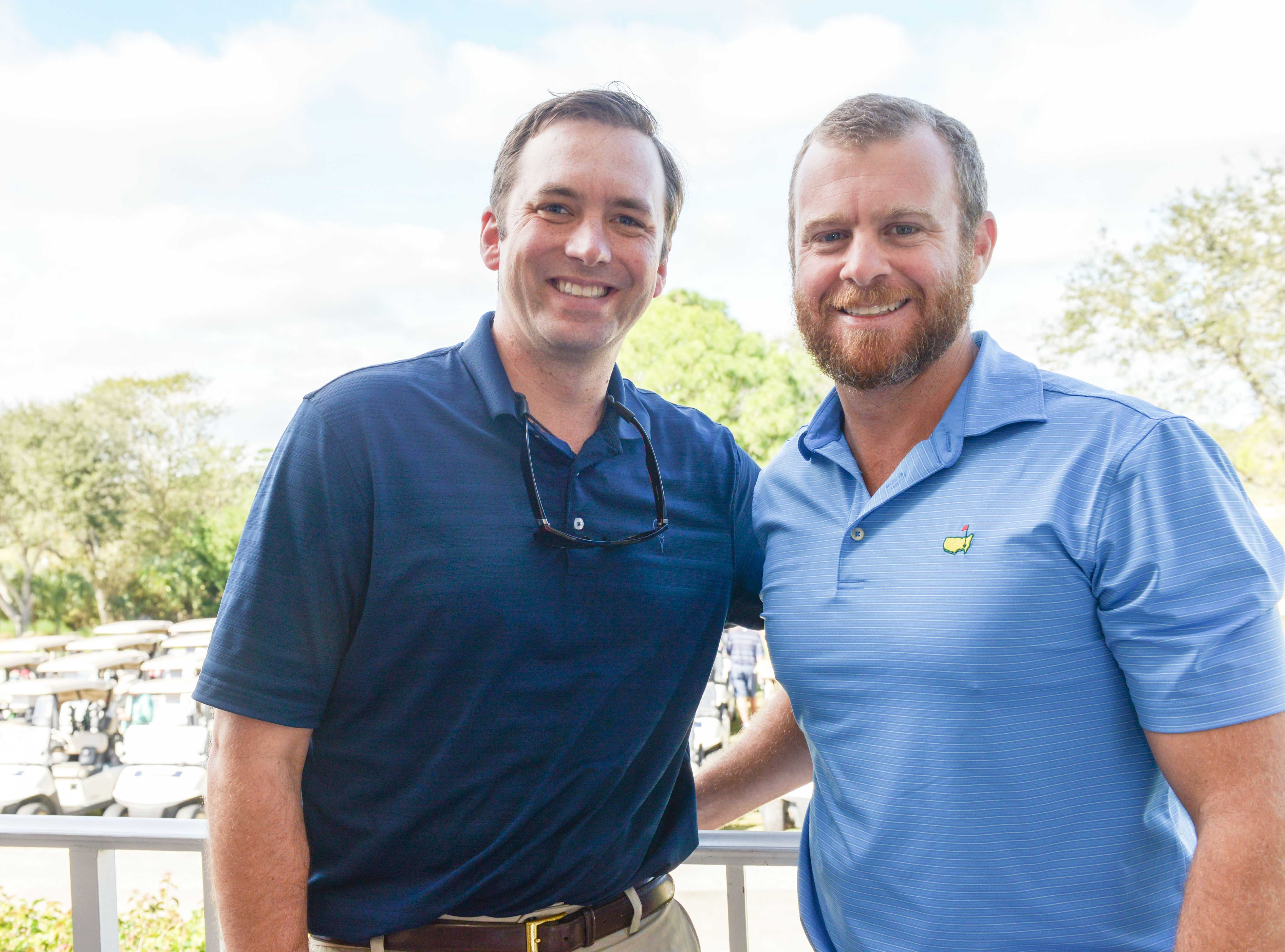 Nick Bruce, left, and Steve Boyle at Hawk's Nest Golf Club for the Big Brothers Big Sisters Golf Tournament on Feb. 4.