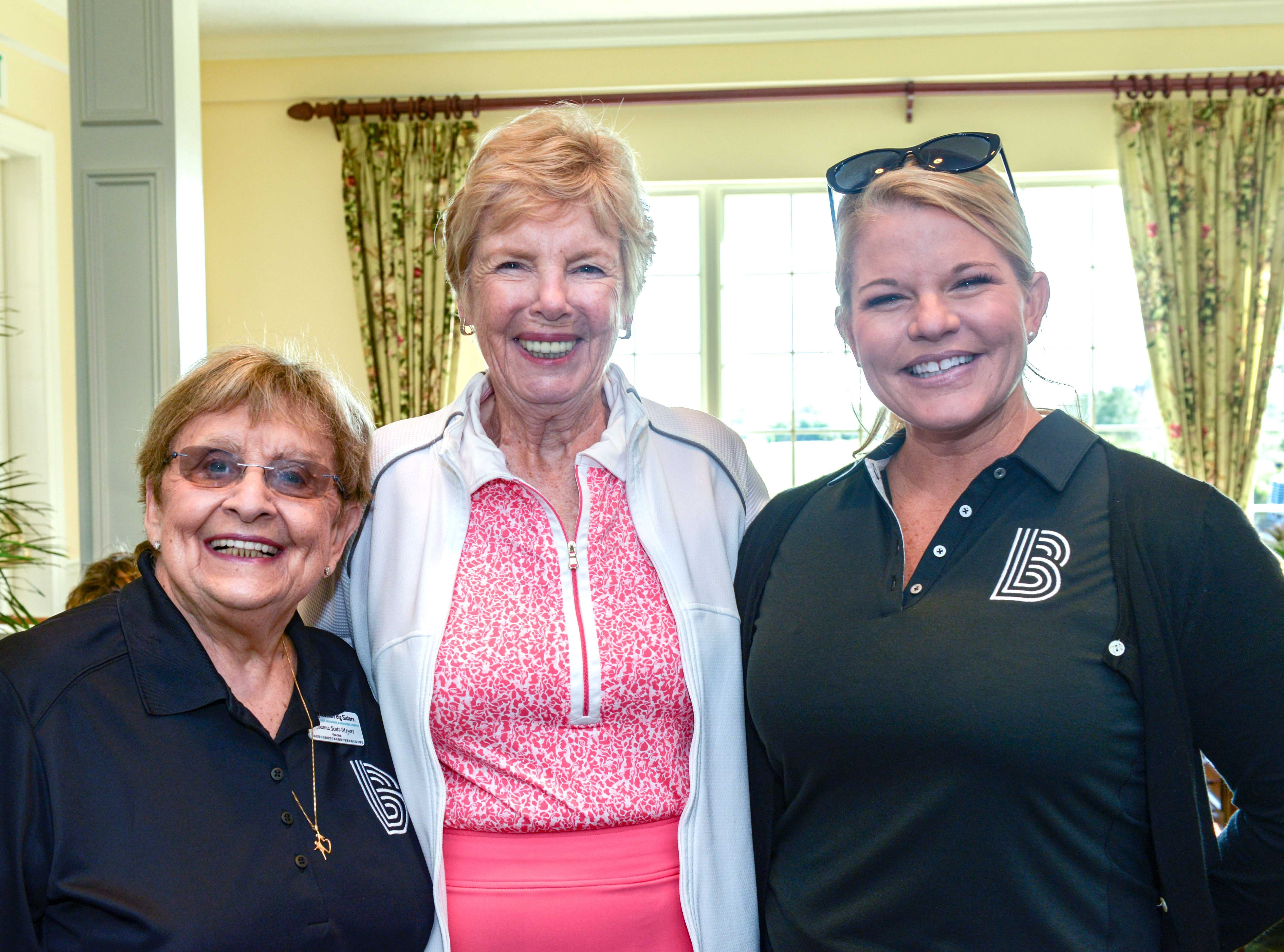 Board Vice Chair Joanna Scott Meyers, left, Sponsor Pat Binglemann and CEO Stacey Watson-Mesley at Hawk's Nest Golf Club for the Big Brothers Big Sisters Golf Tournament on Feb. 4.