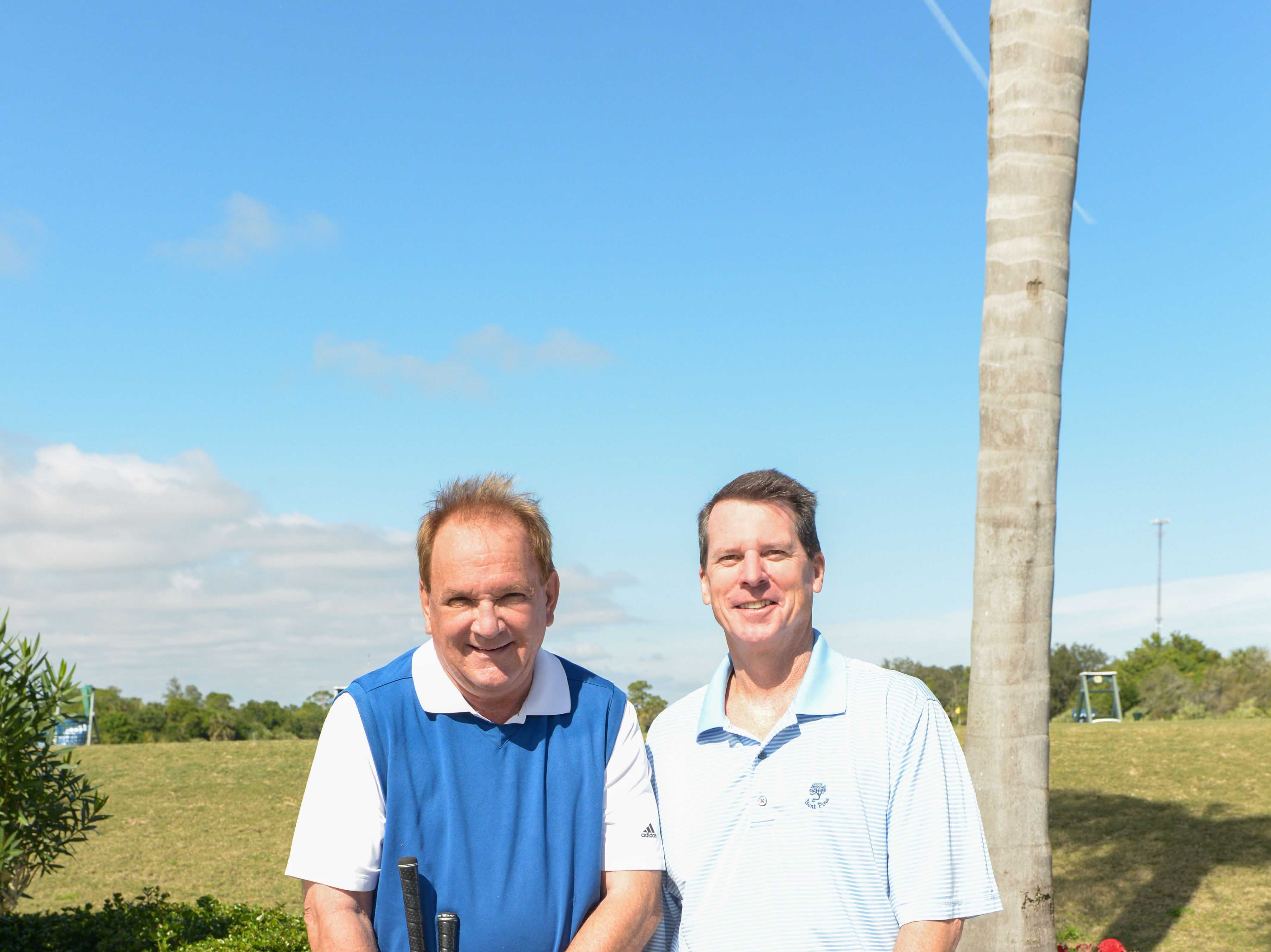 Dennis Witherow, left, with Jim Davis of Fidelity Investments at Hawk's Nest Golf Club for the Big Brothers Big Sisters Golf Tournament on Feb. 4.