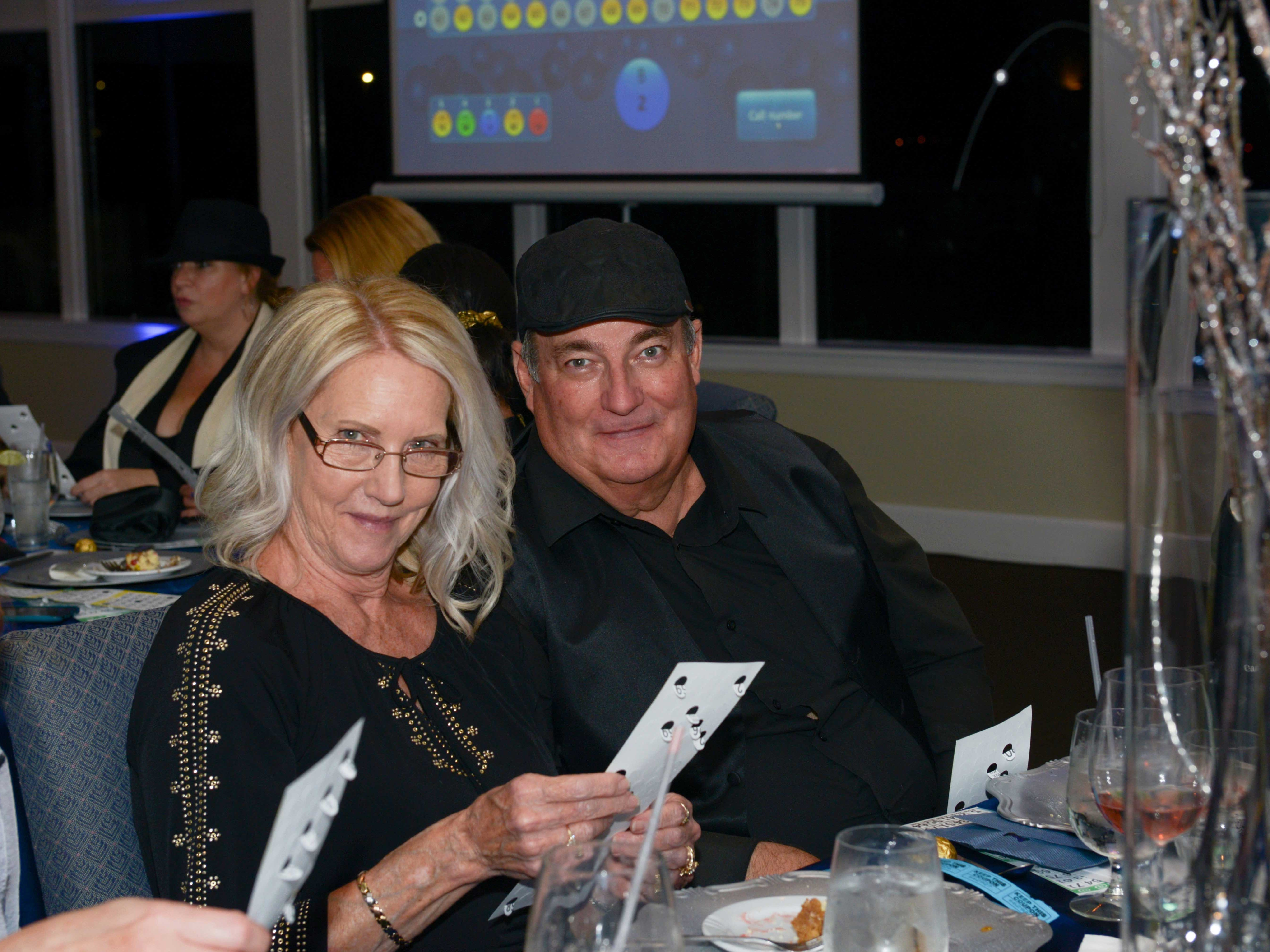 Dawn and Mikey Evans at Family Meals' Black Tie, Blue Jeans & Bingo fundraiser in Fort Pierce.