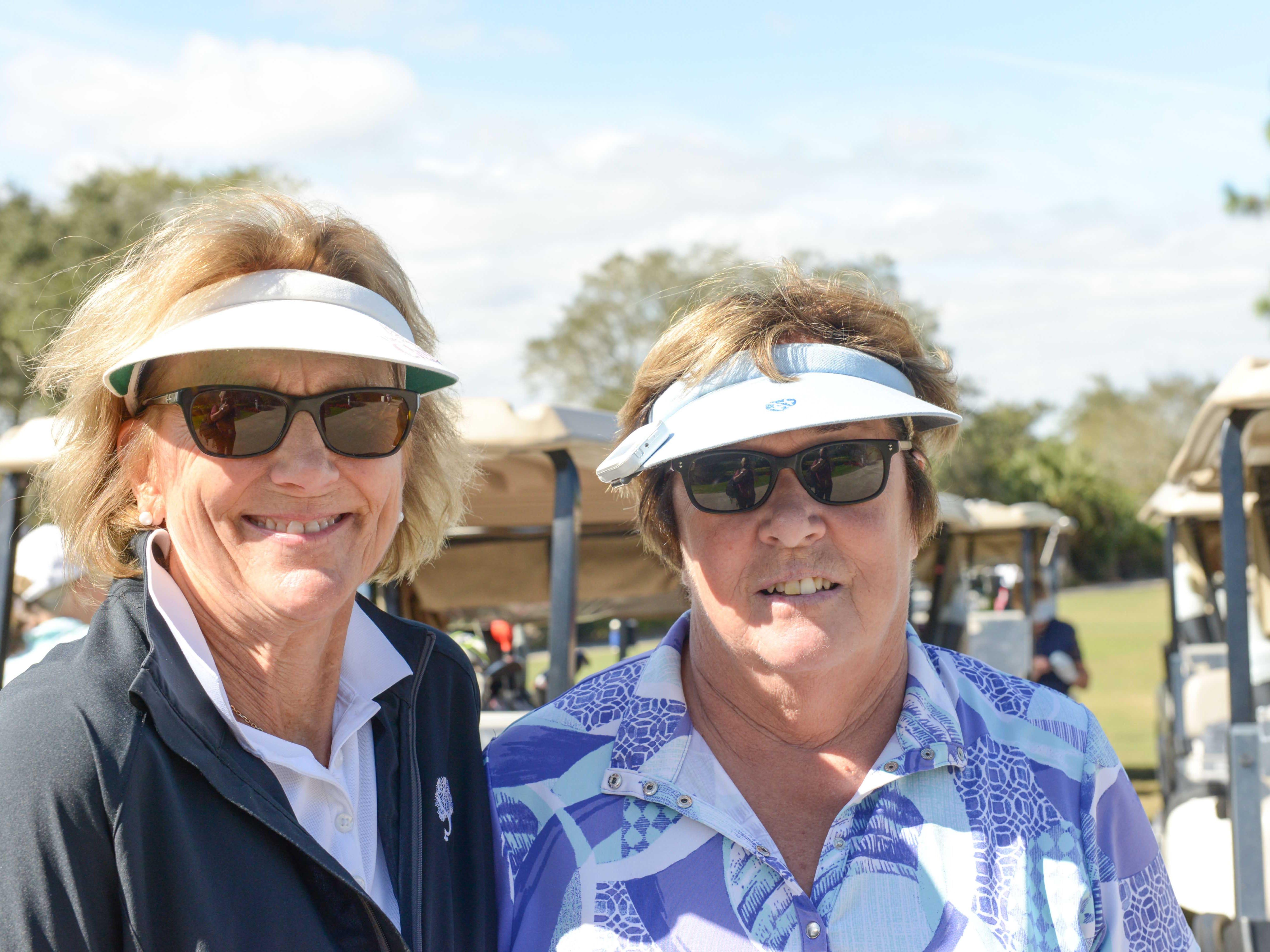 Nancy Jones, left, and Caroline Taylor at Hawk's Nest Golf Club for the Big Brothers Big Sisters Golf Tournament on Feb. 4.