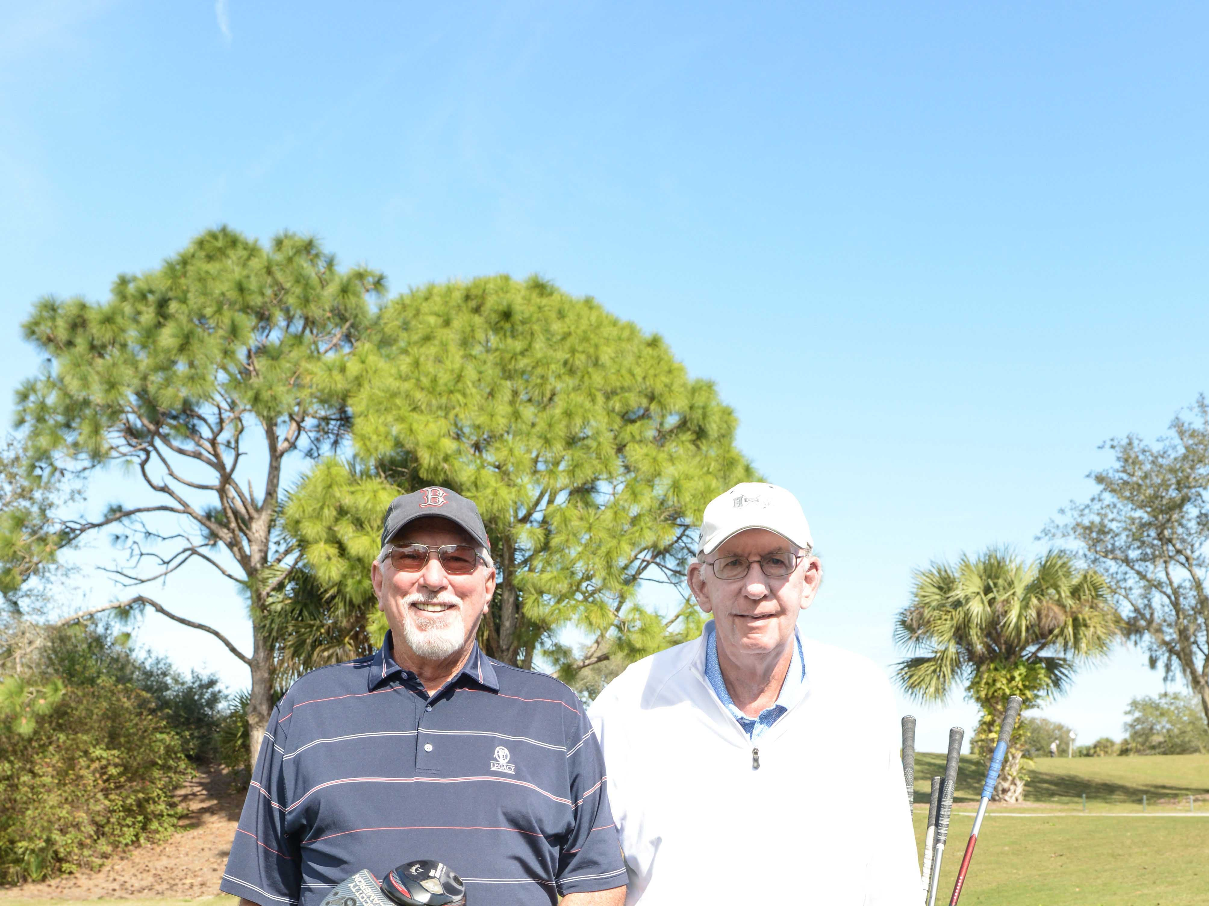 Al Howard, left, and Len Odell at Hawk's Nest Golf Club for the Big Brothers Big Sisters Golf Tournament on Feb. 4.