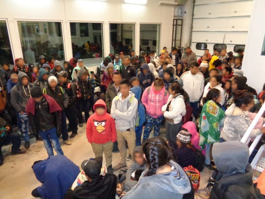 U.S. Border Patrol agents detain nearly 300 migrants early Thursday morning at the Antelope Wells port of entry in Southern New Mexico.