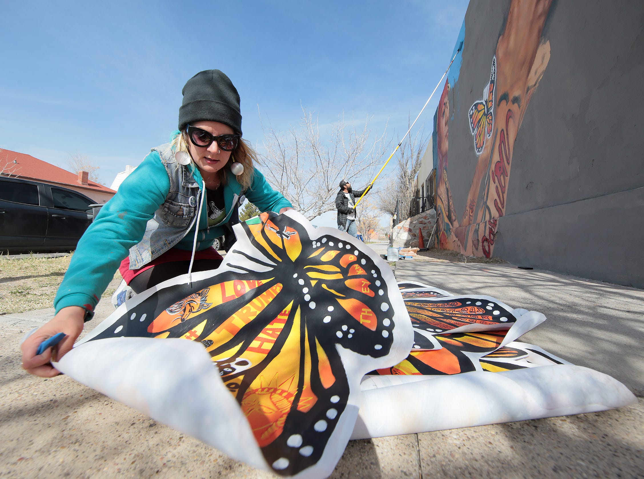 """The mural will show butterflies being released into a bright sky. It references the poem, """"The Butterfly,"""" by Pavel Friedmann, who was sent to Auschwitz extermination camp in Poland, where he was killed Sept. 29, 1944."""