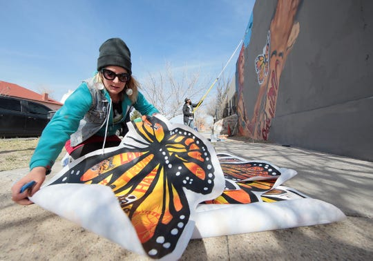 "The mural will show butterflies being released into a bright sky. It references the poem, ""The Butterfly,"" by Pavel Friedmann, who was sent to Auschwitz extermination camp in Poland, where he was killed Sept. 29, 1944."