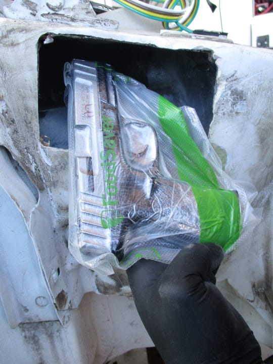 U.S. Customs and Border Protection officers seized 15 pounds of cocaine, 45 pounds of meth and 31 handguns between Feb. 1 to Feb. 6 at the Presidio port of entry. An inspection of a truck found a nonfactory compartment in its firewall with 31 automatic handguns and 48 assorted magazines, officials said.