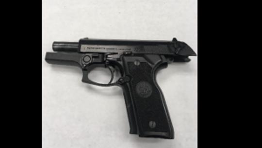 Oxnard police seized this semi-automatic handgun Friday night.