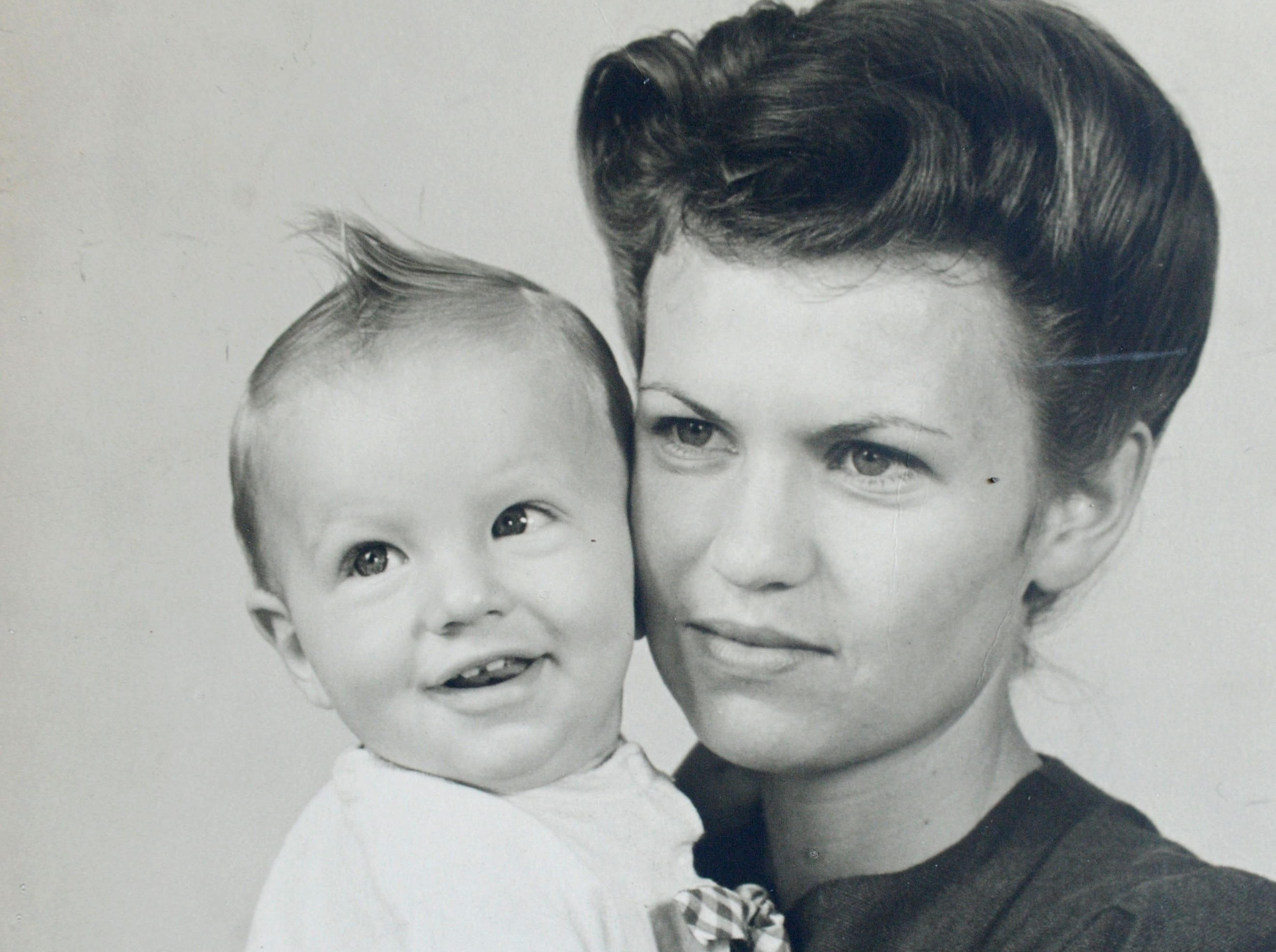 Gladys Fleckenstein, now of Camarillo, is pictured with her son Larry J. Stevens. He would go on to serve in the U.S. Navy. The fighter pilot was shot down over Laos on Valentine's Day 1969.