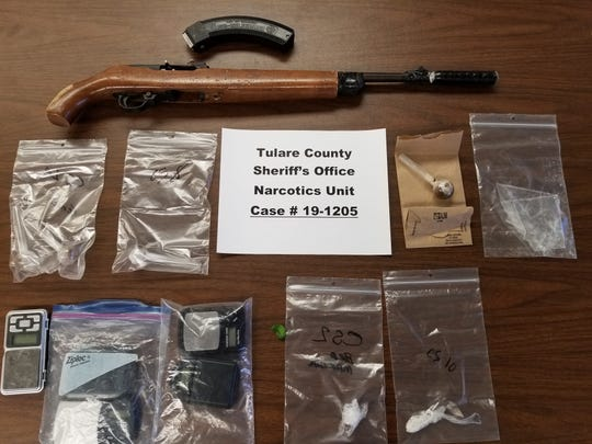 Tulare County detectives say they found a small amount of methamphetamine, drug paraphernalia, scales, and other items associated with drug sales at a home in Visalia.