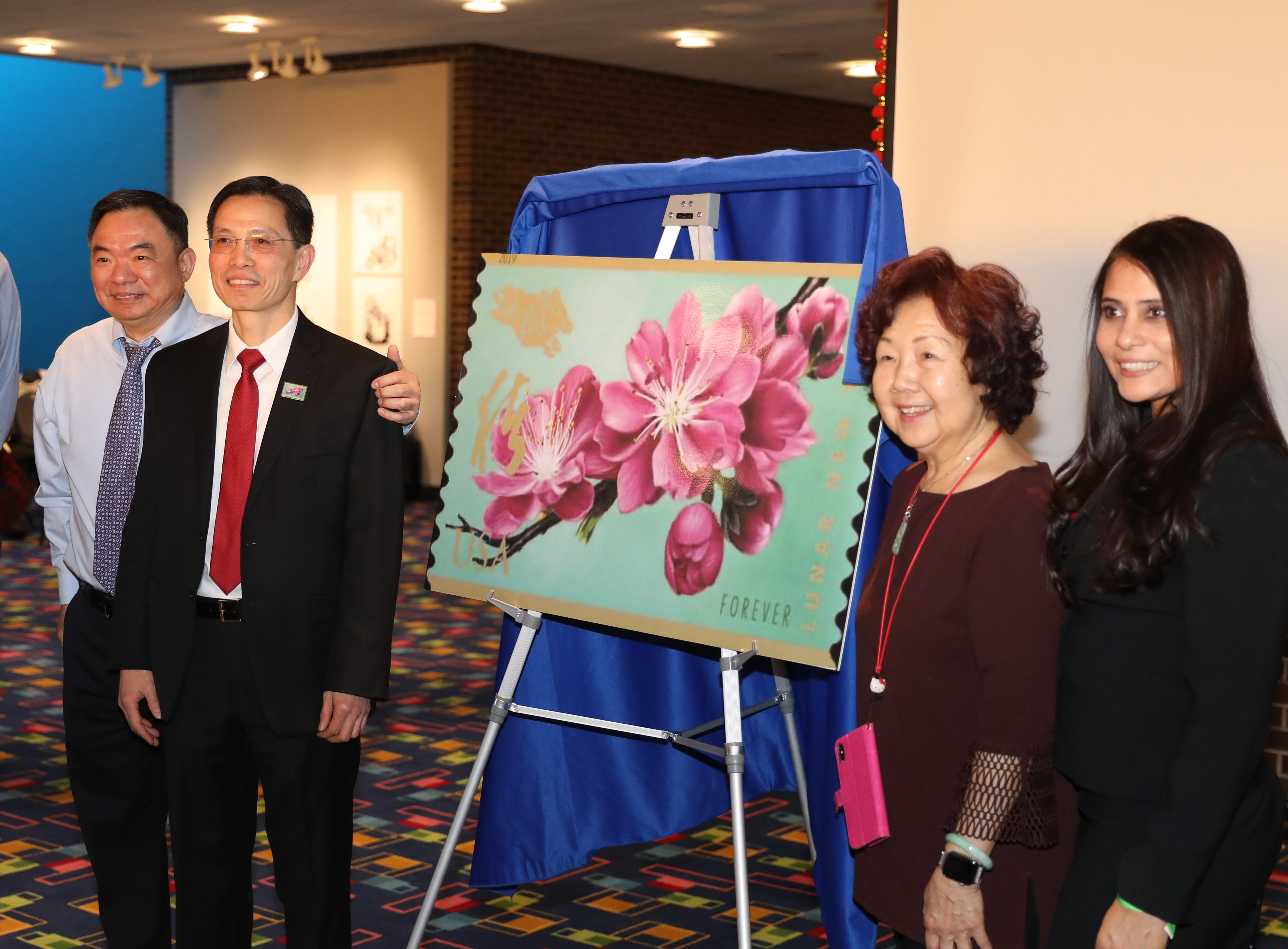 The 12th and final USPS postage stamp in this series celebrating the Chinese New Year, was unveiled during the 30th Chinese New Year Festival, the Year of the Pig, sponsored by WACA (Westchester Association of Chinese Americans), at The Performing Arts Center at Purchase College SUNY, Feb. 9, 2019.