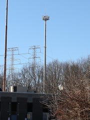The cell tower behind Yorktown Police headquarters on Route 202 in Yorktown  Feb. 8,  2019.