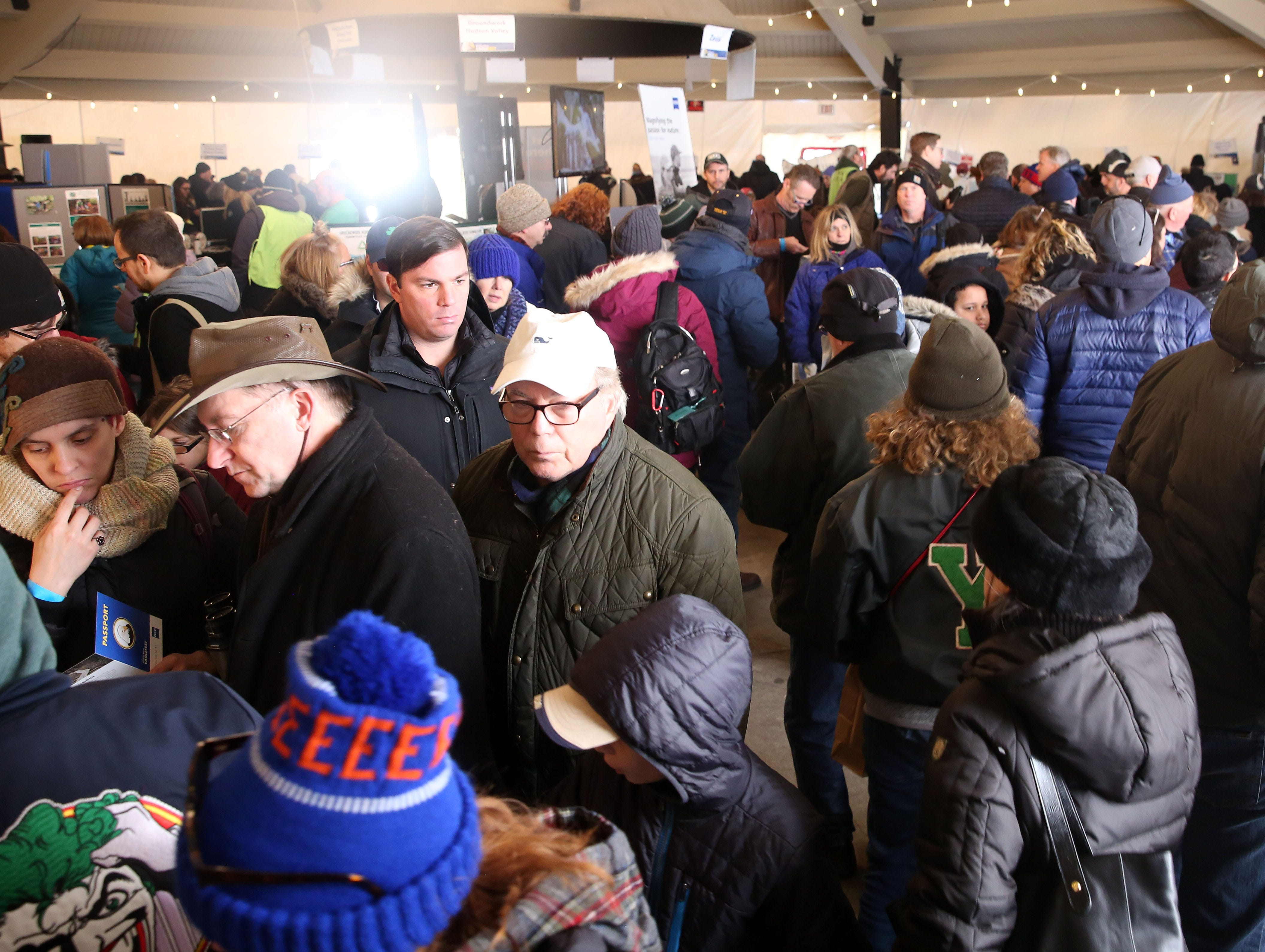 Participants enjoy the many environmental exhibits during the annual Hudson River Eaglefest at Croton Point Park Feb. 9,  2019.
