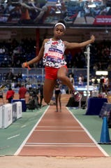 Nadia Saunders of North Rockland competes in the long jump during the 2019 Millrose Games at the New Balance Armory in Manhattan Feb. 9, 2019.