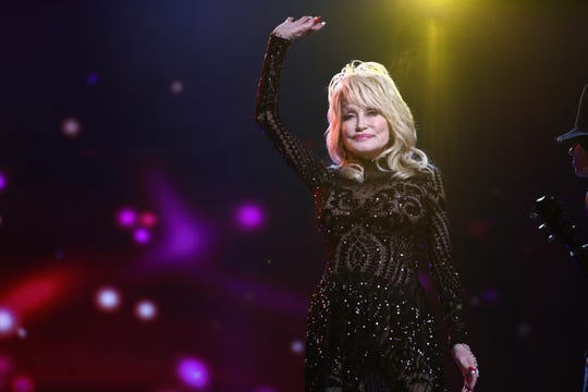Dolly Parton performs onstage during MusiCares Person of the Year 2019 tribute to her.
